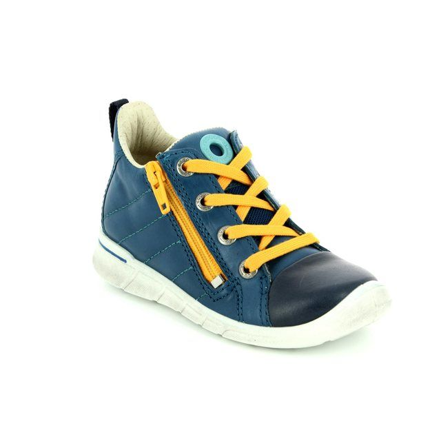 ECCO First Zip 754041-50278 Navy multi first shoes