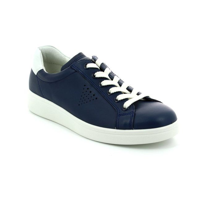 ECCO Soft 4 218033-50446 Navy lacing shoes