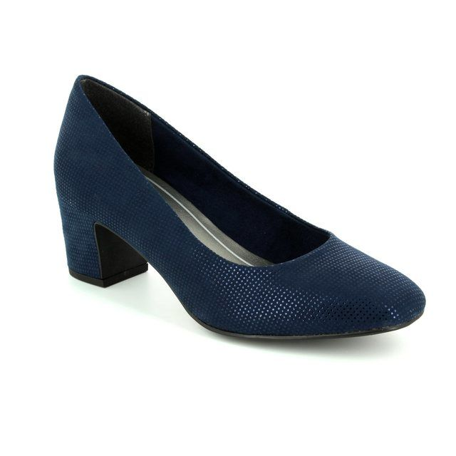 Marco Tozzi Peri 22426-824 Navy high-heeled shoes