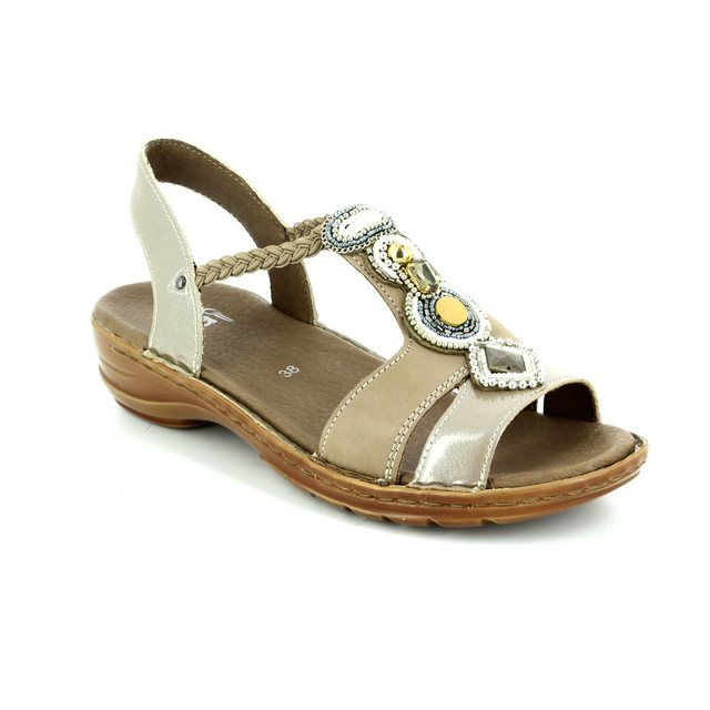 Ara Hawaiibeads 1237275-65 Taupe multi sandals