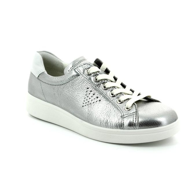 ECCO Soft 4 True 218033-50521 Silver lacing shoes