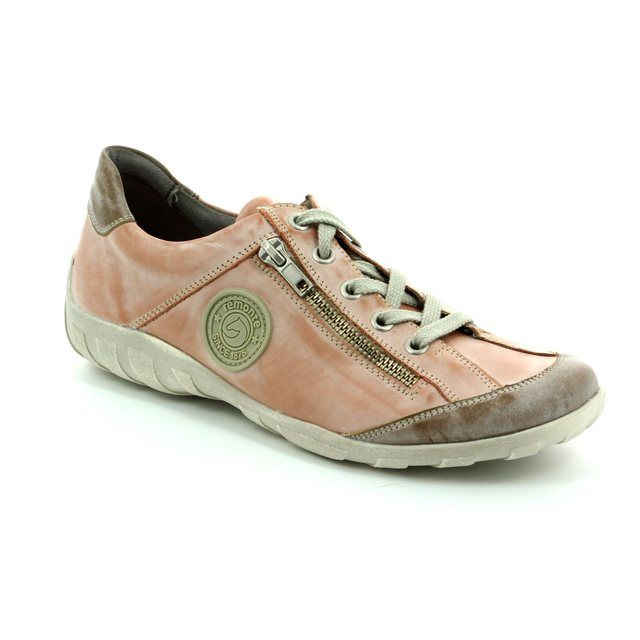 Remonte Livzip R3408-31 Pink lacing shoes