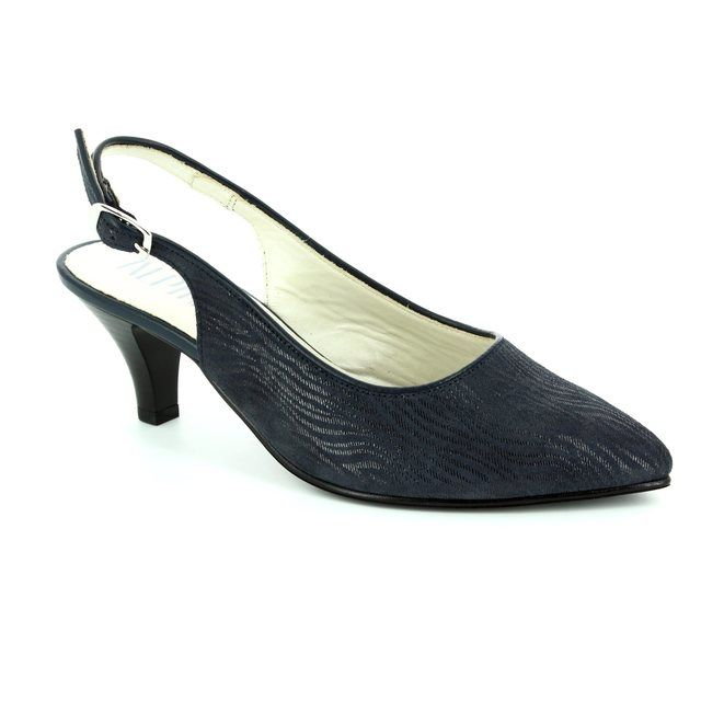 Alpina Latina 9I31-4 Navy high-heeled shoes