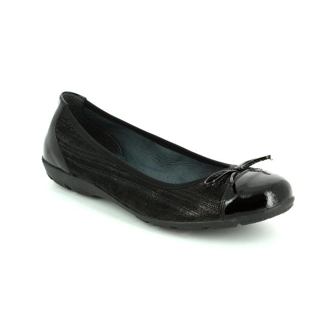 Alpina Lovage 8X76-H Black patent heeled shoes