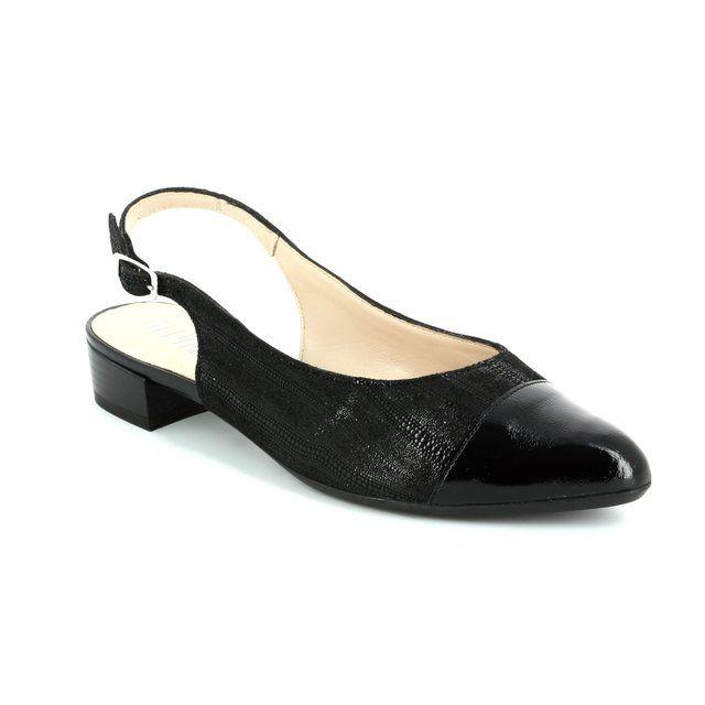 Alpina Elvira 9J02-01 Black patent/suede high-heeled sh