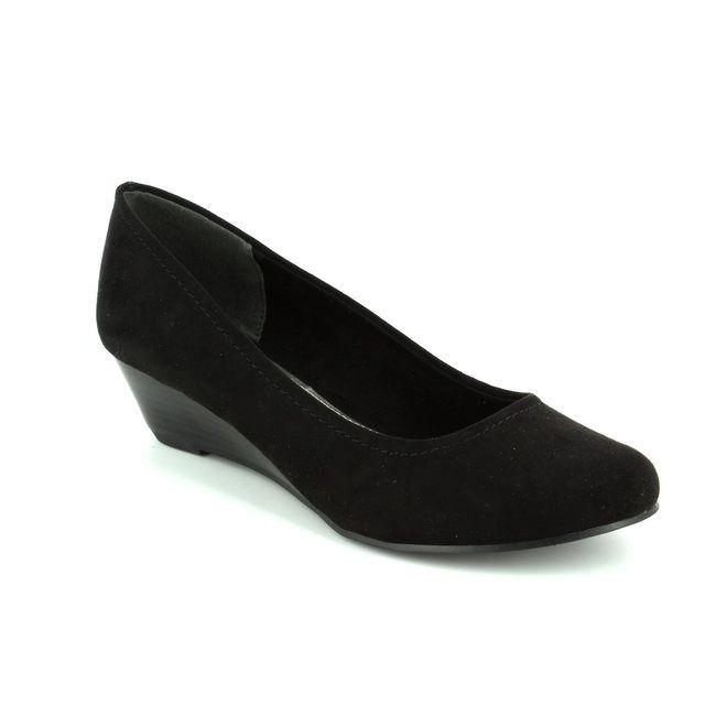Marco Tozzi Biwaq 22302-001 Black heeled shoes