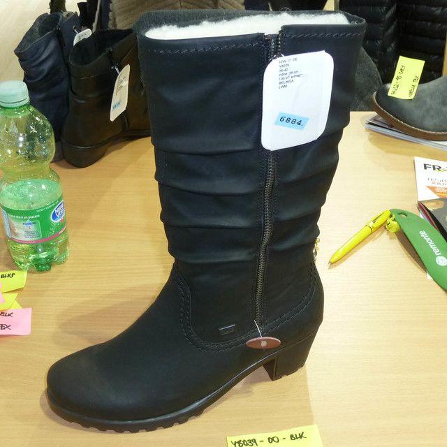 Rieker Y8039-00 Black long boots