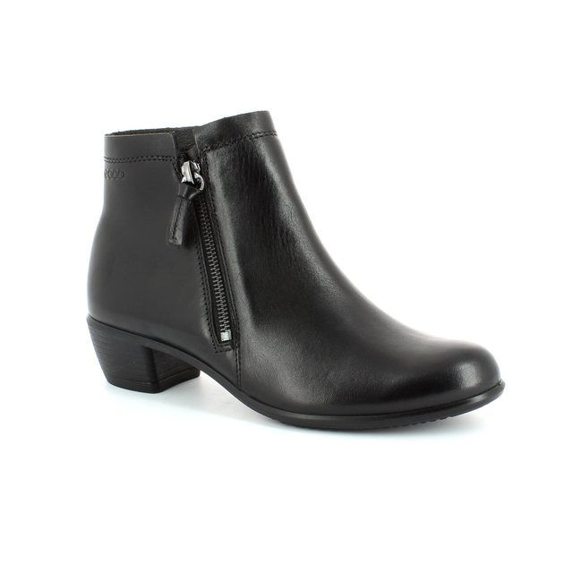 ECCO Touch35 Twinzi 264023-01001 Black ankle boots