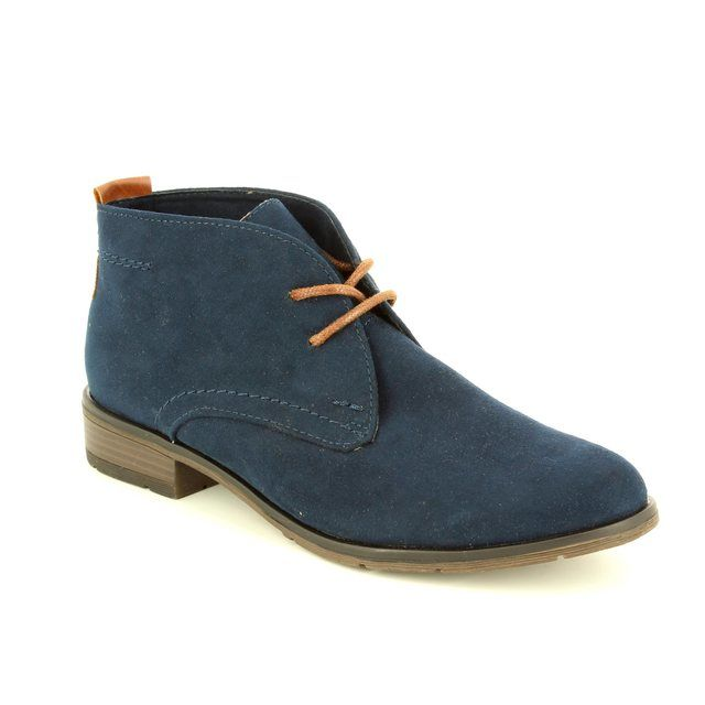 Marco Tozzi Rapall 25101-890 Navy multi ankle boots