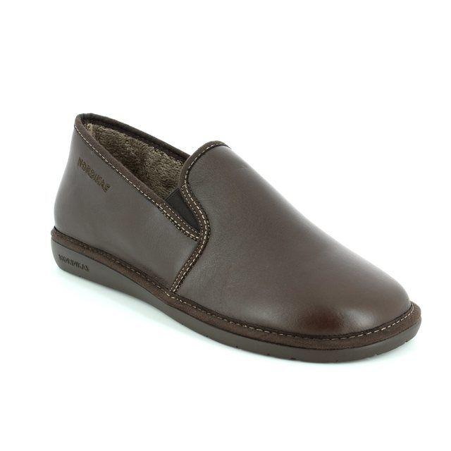 Nordikas Noble 663- Brown house shoe