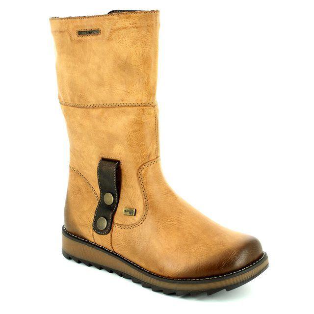 Remonte Astriturn Tex D8874-24 Tan long boots