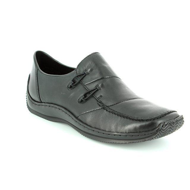 Rieker L1762-00 Black lacing shoes