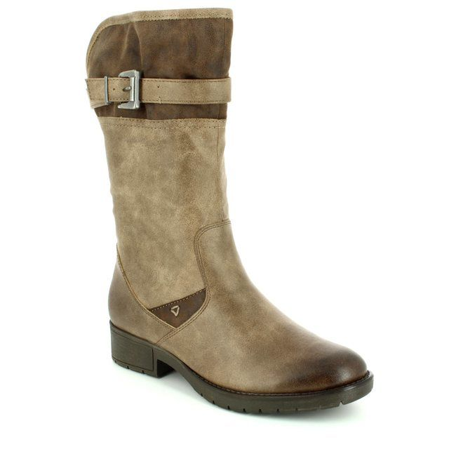 Jana View 25463-341 Taupe multi long boots