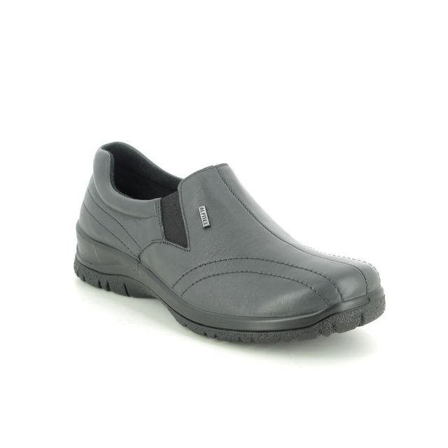 Alpina Comfort Slip On Shoes - Grey leather - 4257/F EIKELEA 05 TEX