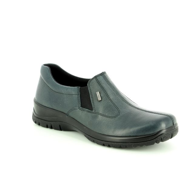 Alpina Comfort Shoes - Navy leather - 4256/2 EIKELEA 85 TEX