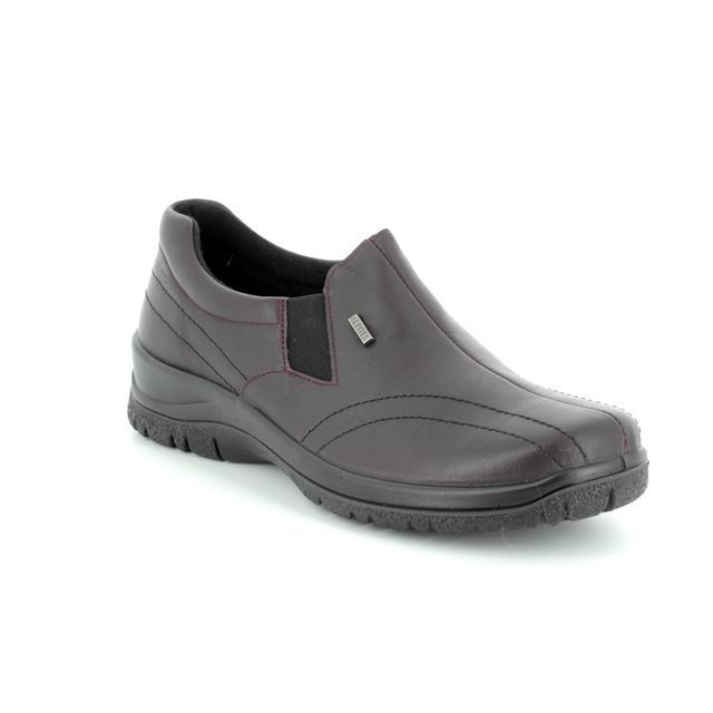 Alpina Comfort Slip On Shoes - PLUM - 4184/K2 EIKELEA TEX