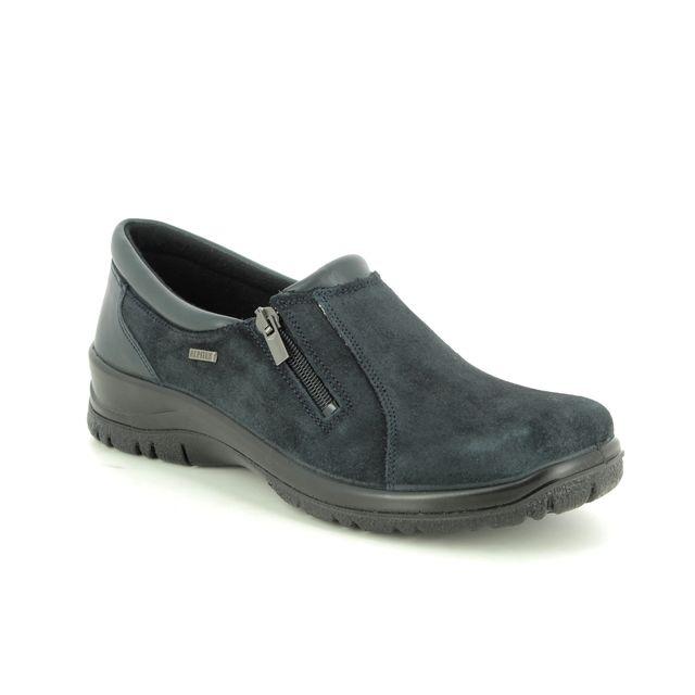 Alpina Comfort Slip On Shoes - Navy Suede - 4253/3 EIKELEA TEX