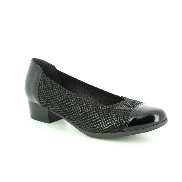 Alpina Heeled Shoes - Black patent suede - 8870/1 GLORIAPA