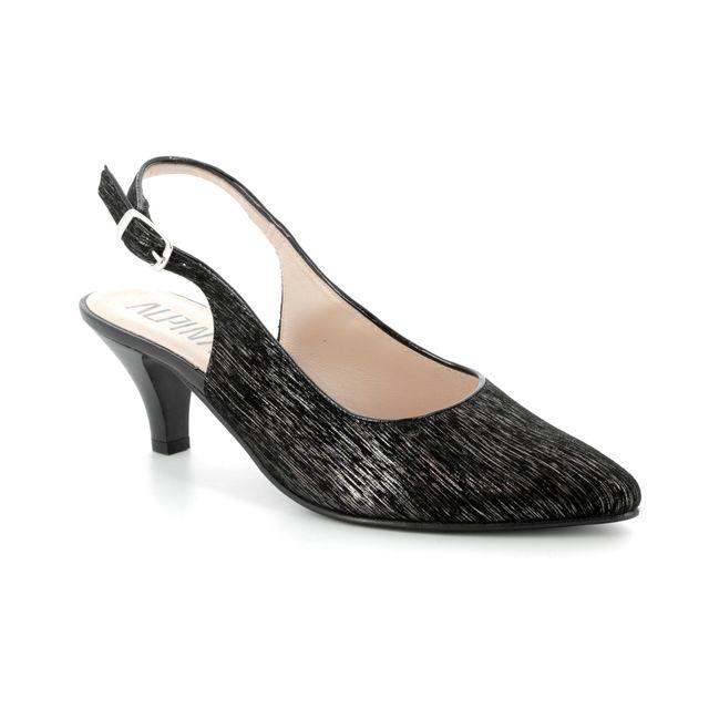 Alpina Heeled Shoes - Black patent suede - 9I31/I LATINA 81