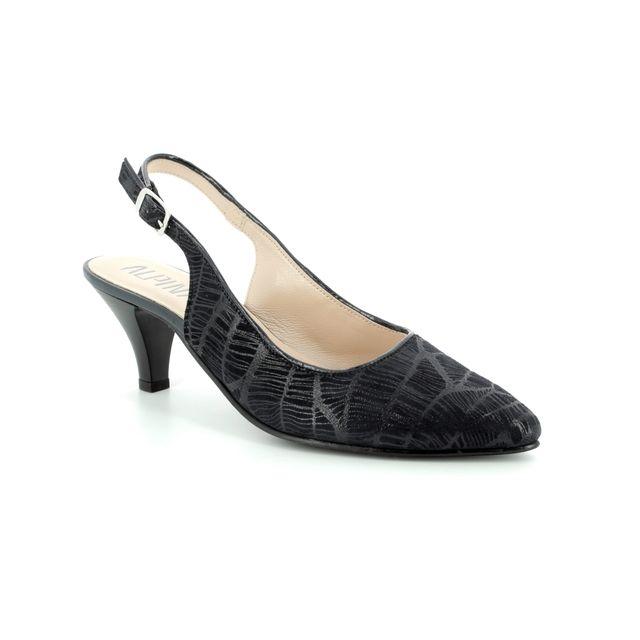 Alpina Heeled Shoes - Navy Patent-Suede - 9I31/K LATINA 81