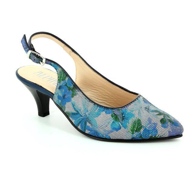 Alpina High-heeled Shoes - Blue multi - 9I31/B LATINA