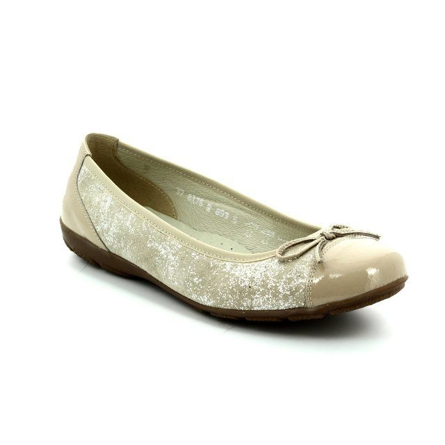Alpina Heeled Shoes - Beige patent-suede - 8X76/F LOVAGE