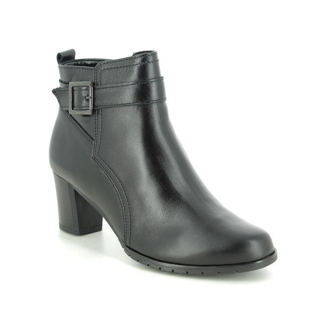 Alpina Heeled Boots - Black leather - 7M57/1 SINDI  G BUCK