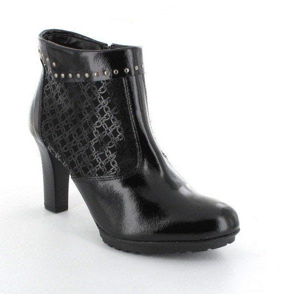 Alpina Sylla 7F55-30 Black patent ankle boots