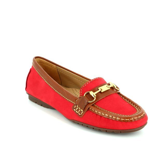 Ambition Antone 25678-85 Red-tan combi loafers