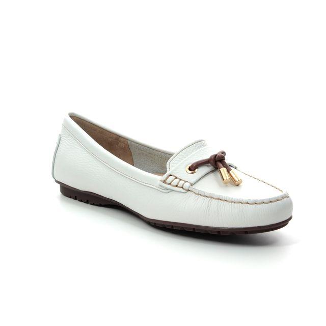 Begg Shoes Loafers - White nubuck - 25895/66 ANTONITA