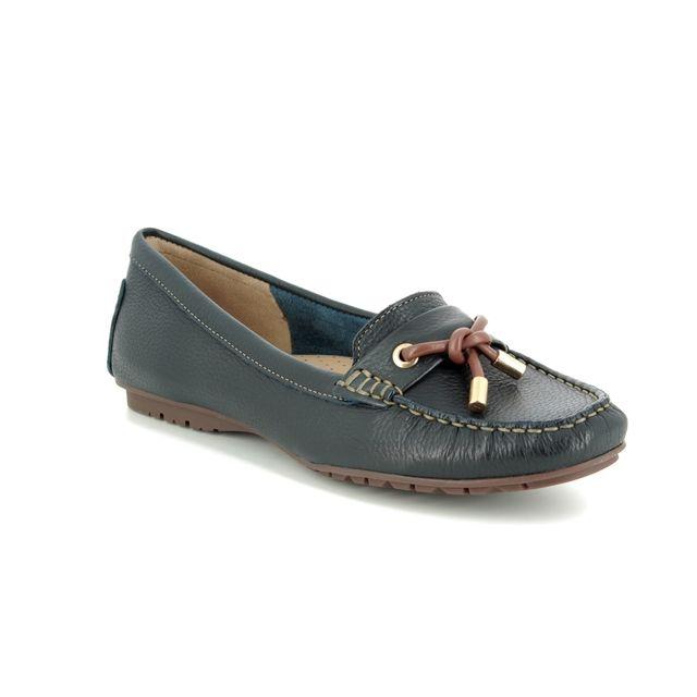 Begg Shoes Loafers - Navy-Tan - 25895/77 ANTONITA