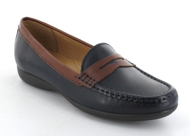 Ambition Candice 2475-57 Navy/tan loafers