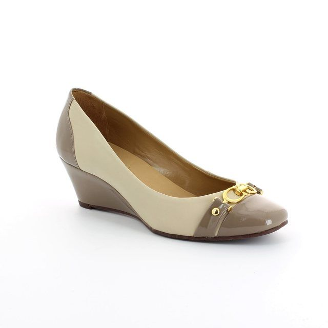 Ambition Modena 3815-75 Taupe multi patent Wedge Shoes