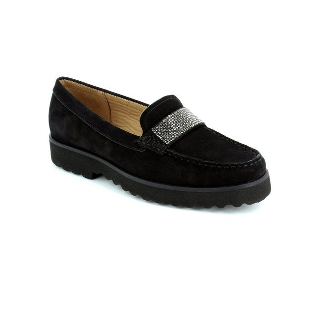 Ambition Porkur 16616-30 Black nubuck loafers