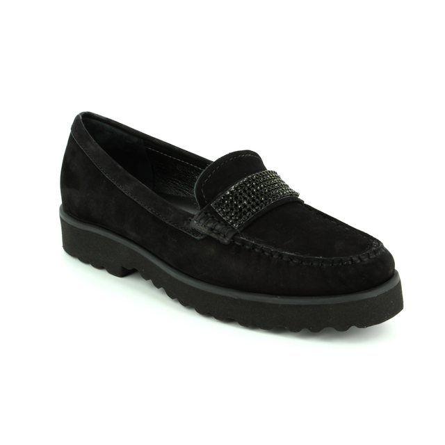 Ambition Porkur 72 16616-40 Black nubuck loafers