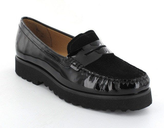 Ambition Porsche 1652-94 Black patent/suede loafers