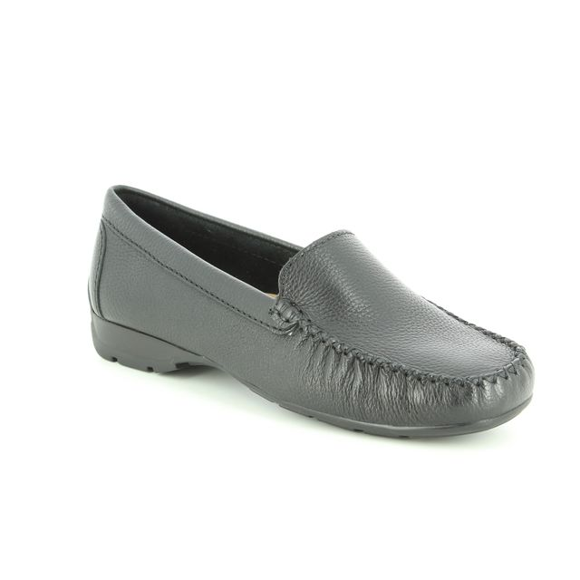 Ambition Loafers - Black leather - 40539/30 SUNDAY WIDE FIT