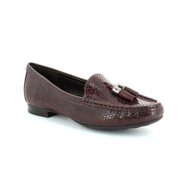 Ambition Sunfloat 2490-08 Wine Patent-suede combi loafers