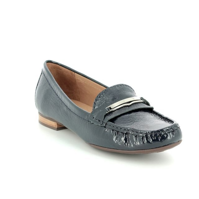 Begg Exclusive Sunflowbar 25761-70 Navy patent loafers