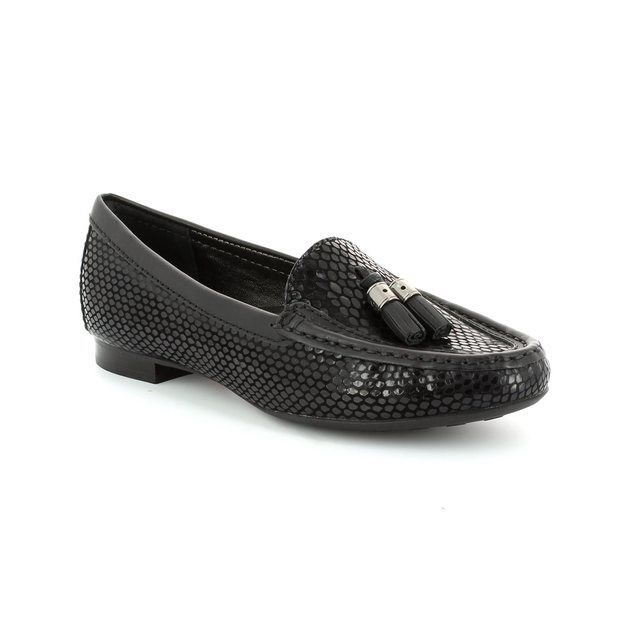 Ambition Sunflower 2490-03 Black patent/suede loafers