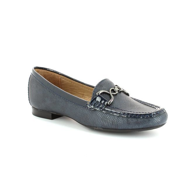 Ambition Sunflower 24976-67 Navy patent-suede loafers
