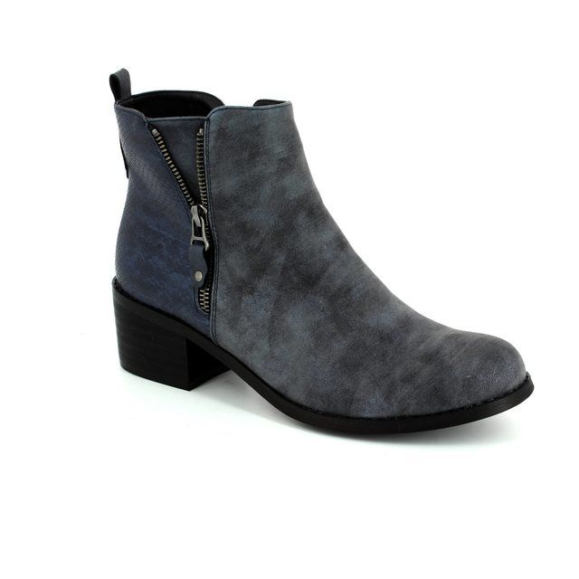 Antonio Dolfi Sizzy 436111-40 Navy ankle boots