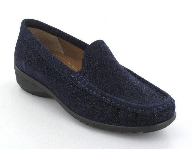 Ara Atlanta 40101-15 Navy patent-suede comfort shoes