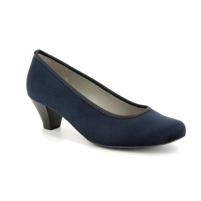 Ara Heeled Shoes - Navy suede - 64245/02 AUCKLAND