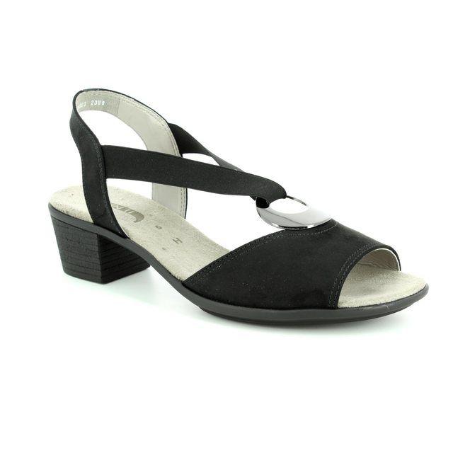 Ara Heeled Sandals - Black - 56407/01 BALLINA