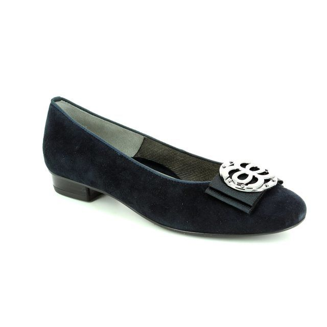 Ara Bari 43770-02 Navy suede pumps