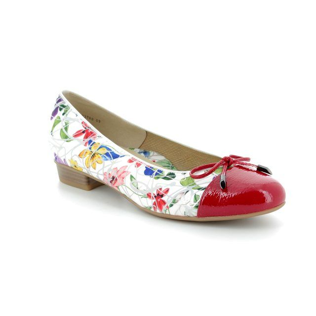 Ara Pumps - Red floral - 23760/09 BARI BIRD