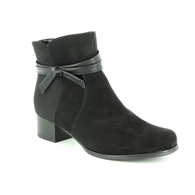 Ara Ankle Boots - Black - 63654/61 CATABOW WIDE FIT