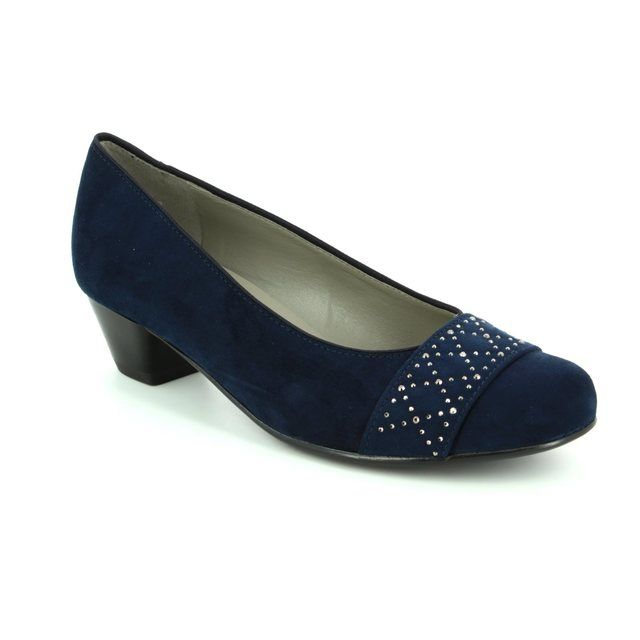 Ara Catania 2263682-02 Navy heeled shoes