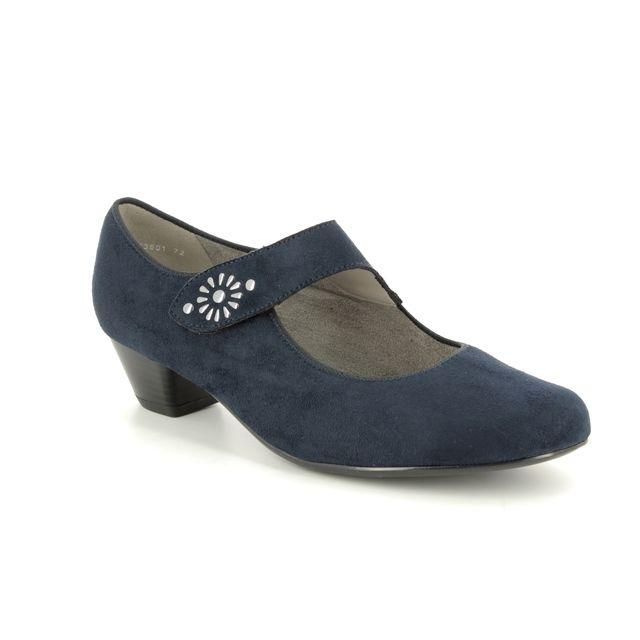 Ara Catania Wide 53601-72 Navy Mary Jane Shoes